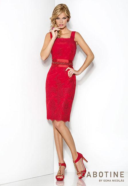 vestido de ceremonia rojo