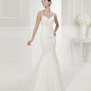 vestido de novia outlet de cosmobella, modelo fama