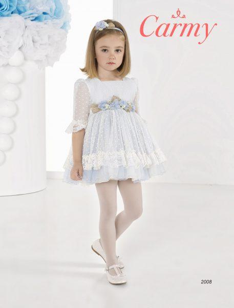 vestido de arras azul