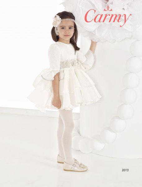 vestido medias mangas blanco