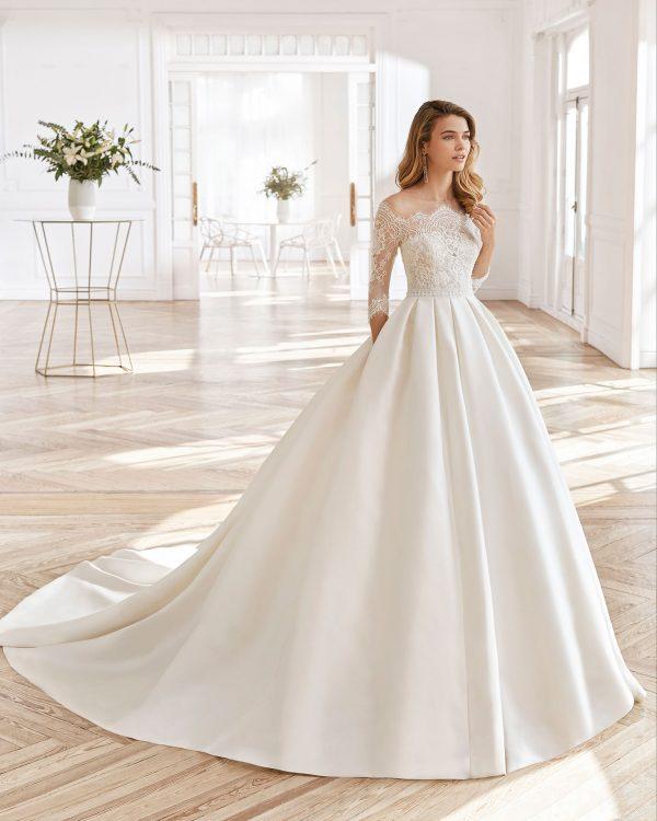 vestido de novia de aire barcelona, north